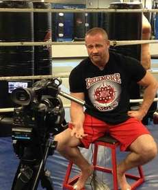 Keith Trimble of Bellmore Kickboxing Academy discusses boxer