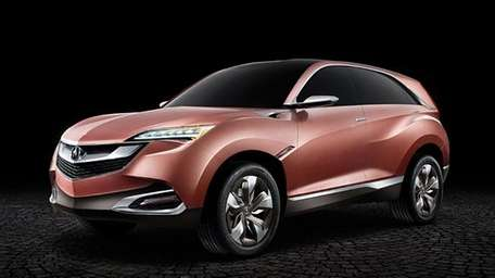 A rendering of Acura's SUV-X small wagon, which