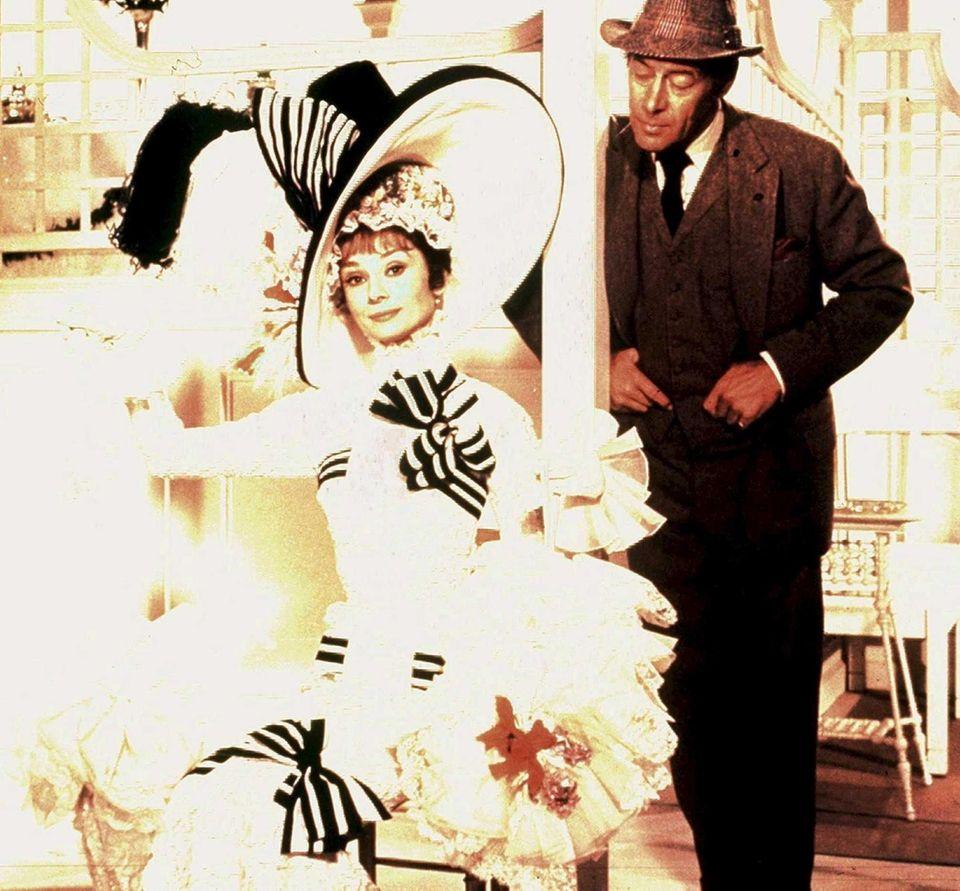 Audrey Hepburn starred as Eliza Doolittle, the role
