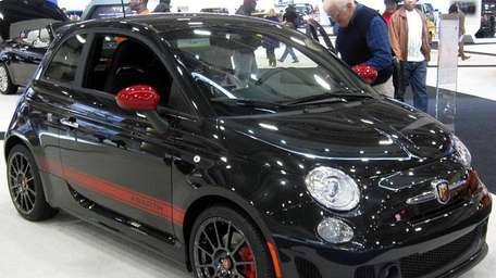 A 2012 Fiat 500 Abarth as seen in
