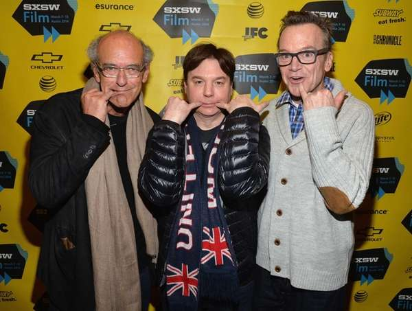 From left, producer Shep Gordon, Mike Myers and