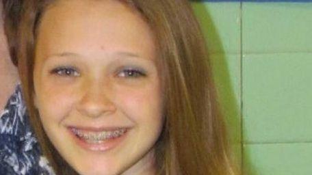 Julia DeVita, 13, a seventh-grader at Oldfield Middle