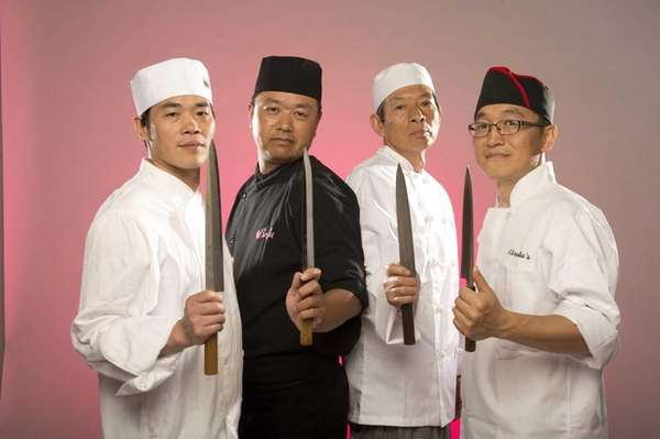 Sushi chefs, from left, Zeman Chen of Nisen