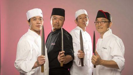 Sushi chefs, from left, Zeman Chen of Nisen
