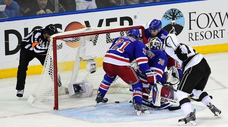 Rangers goalie Henrik Lundqvist and center Derek Stepan