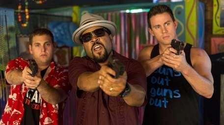 From left, Jonah Hill, Ice Cube, and Channing