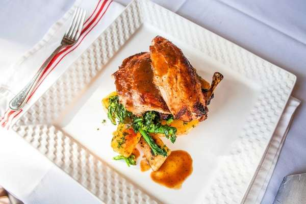 Juicy roasted chicken is a classic main course