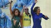 Rapper Pitbull, Brazilian pop singer Claudia Leitte and