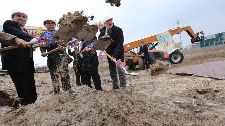 The ground breaking ceremony for the new Coney