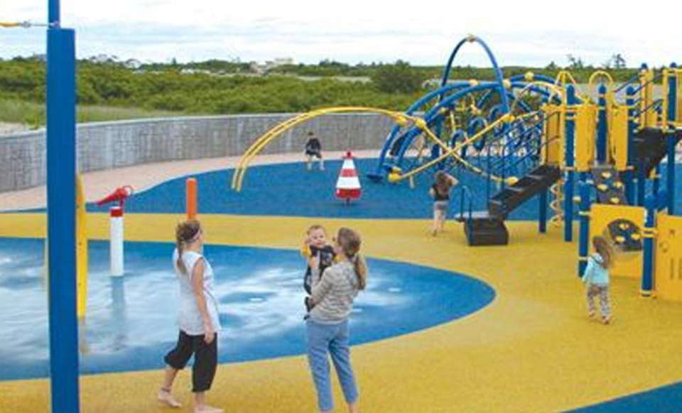 Bay Park features a large playground that includes