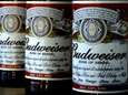 Bottles of Budweiser beer at the Stag Brewery
