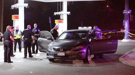 Nassau police investigate the scene at Willis Avenue