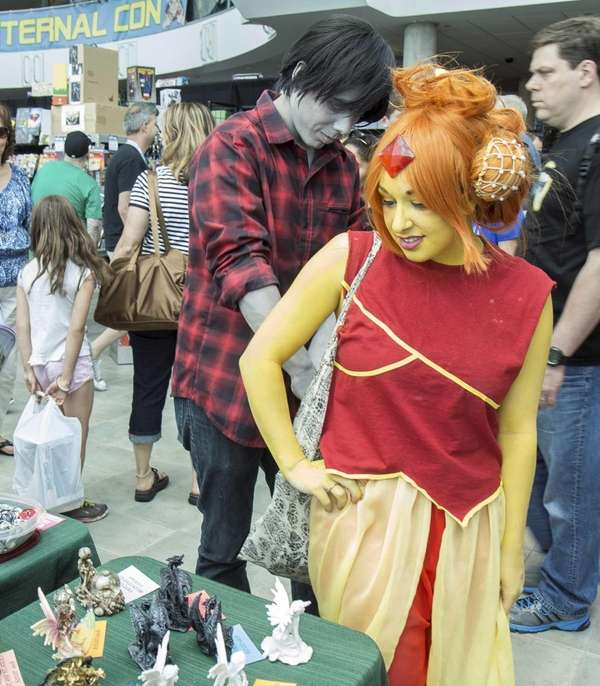 The 2nd annual Eternal Con is held at the Cradle of Aviation Museum in Garden City on Saturday, June 14, 2014.  Danni Floridia  from Massapequa came as the Flame Princess in