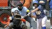 East Meadow's Tianna LaRosa bats against Liverpool during