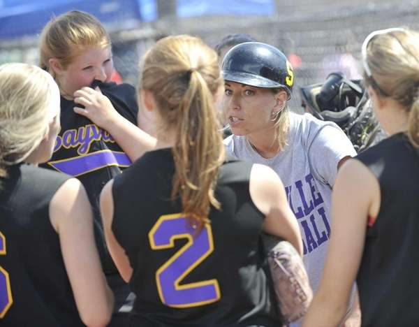 Sayville head coach Tiffany Rowan instucts her players