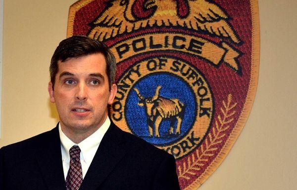 Det. Lt. Kevin Beyrer gave a quick press