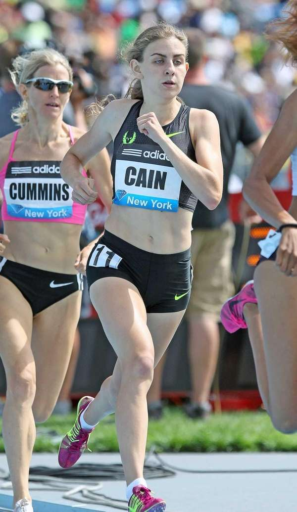 Mary Cain finished fourth in the women's 800-meter
