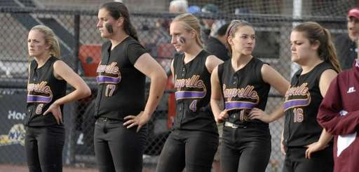 Sayville players react after a 21-4 loss against