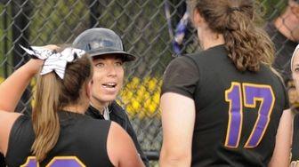 Sayville head coach Tiffany Rowan instructs her players