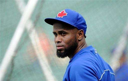 Toronto Blue Jays' Jose Reyes looks on before