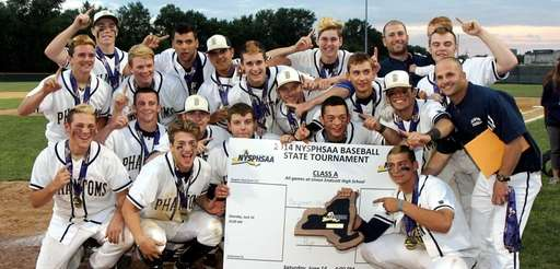 Bayport-Blue Point celebrates its finals win at the