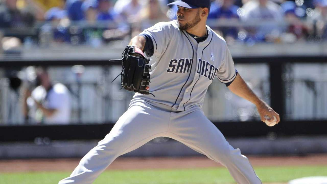 San Diego Padres pitcher Alex Torres delivers against