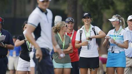 Martin Kaymer, of Germany, lines up his putt