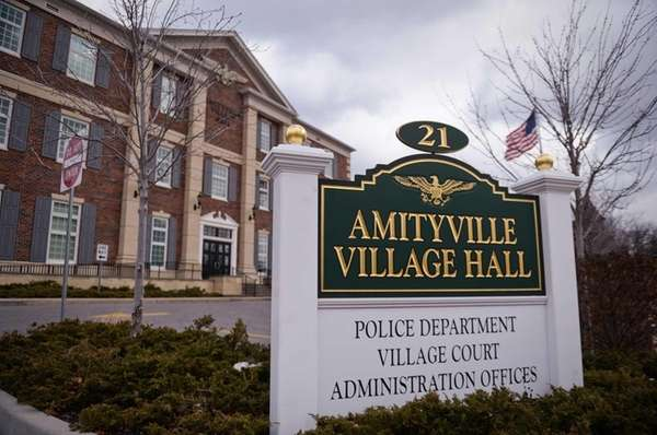 The Amityville Village Hall on Ireland Place in