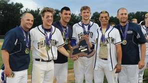 Bayport-Blue Point seniors, from left, Matt McKinnon, Mike