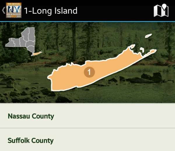 NY Fishing, Hunting & Wildlife app. KEYWORD: FishApps