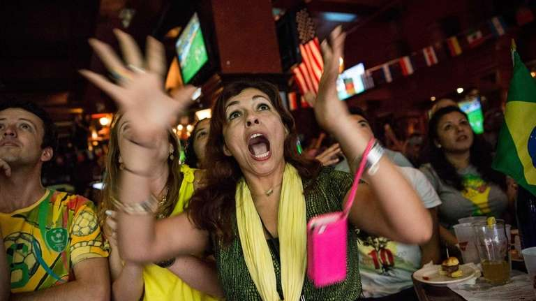 Angela Stewart, a Brazilian soccer fan originally from