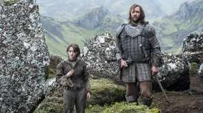 """Maisie Williams and Rory McCann in """"Game of"""