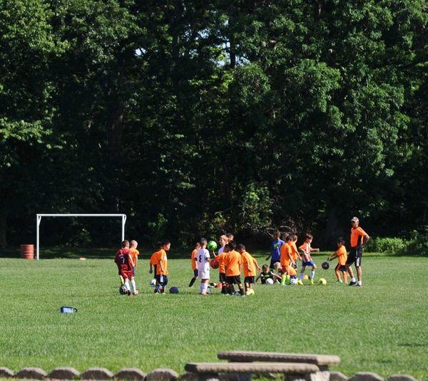 The soccer fields inside Van Bourgondien county park