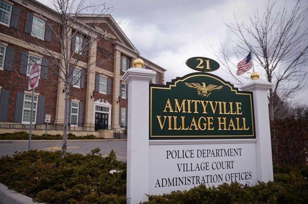 Amityville Village Hall on Ireland Place in Amityville
