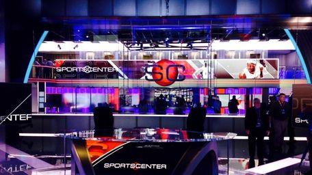ESPN's new SportsCenter set in Bristol, Conn., on