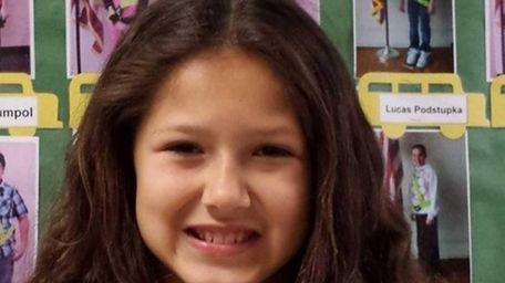 Madison Mentz, 10, a fifth-grader at William Floyd