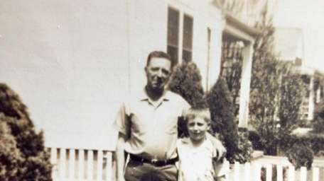 Allen McGovern with his father, Francis, in the