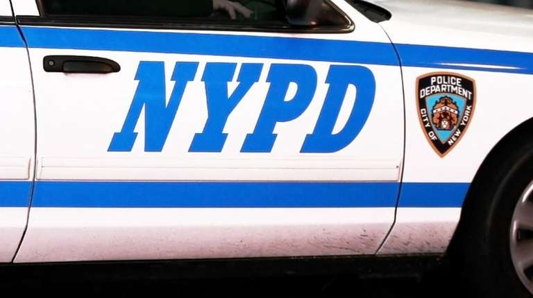 An NYPD patrol car is seen in this