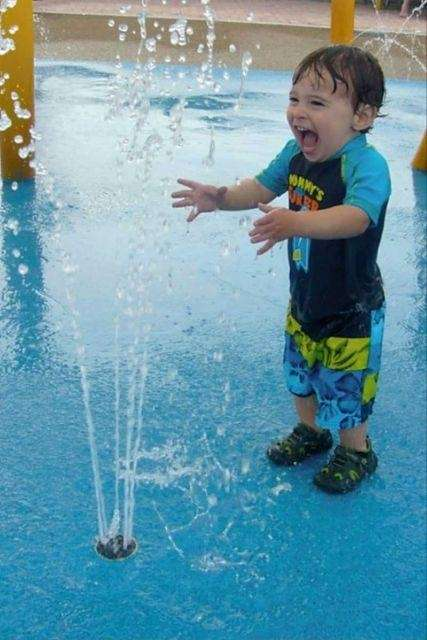 Tobay Beach features an interactive sprinkler park with