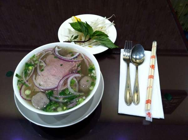 Beef pho is a specialty at Pho Maxia