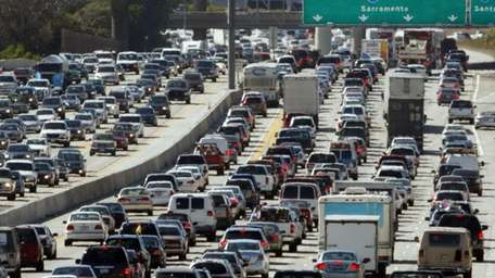 This May 28, 2010, file photo shows traffic