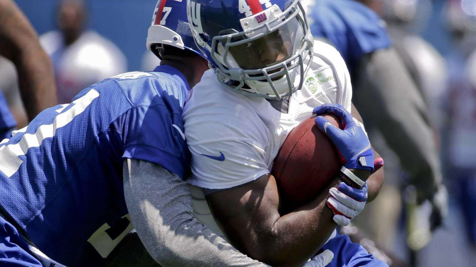 Giants running back running back Andre Williams (44)
