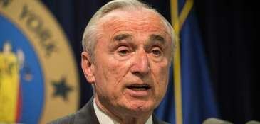 New York Police Commissioner Bill Bratton speaks at