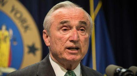 New York Police Commissioner Bill Bratton speaks at