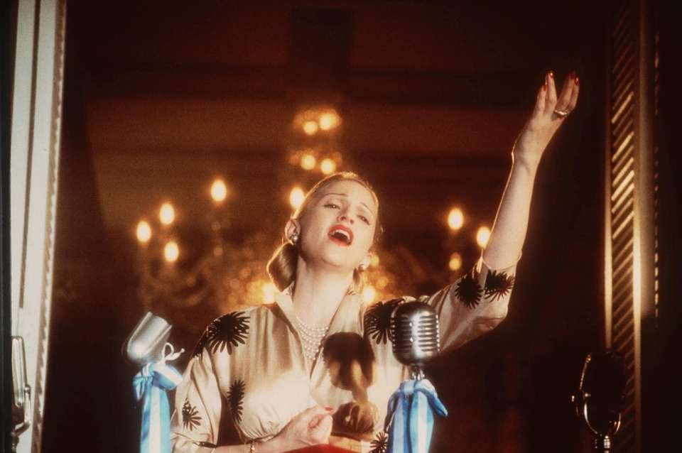 Madonna portrayed Eva Peron, the role Patti LuPone