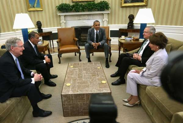 President Barack Obama meets with Senate Minority Leader