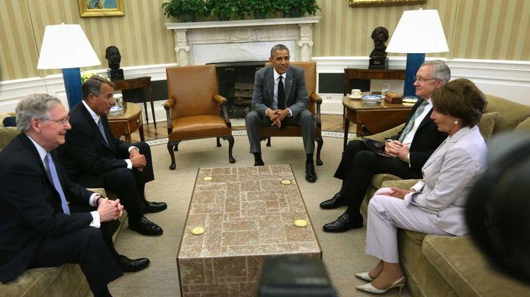 President Barack Obama meets with Senate Minority Leader