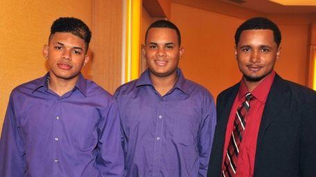 From left: Davween Canela, Jason Rodriquez and Kelvin