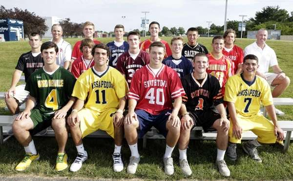 Front row, from left: Danny Bucaro, Ward Melville;