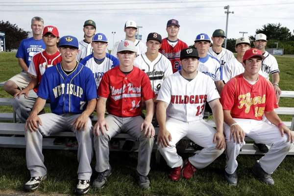All-Long Island Baseball Team (front row, l-r) Nick